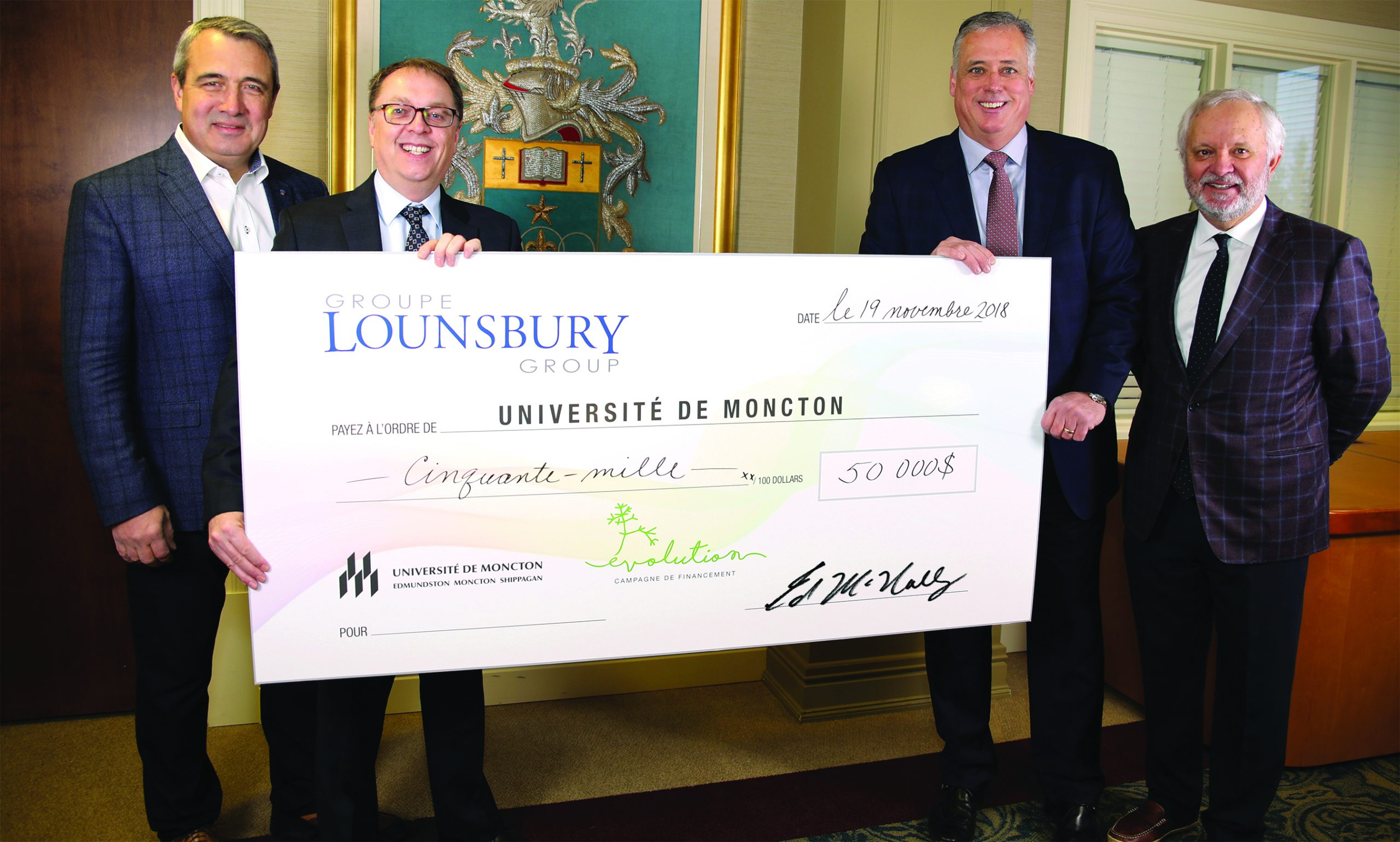 Groupe Lounsbury Group donating to Evolution Fundraising Campaign